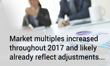 Market multiples increased quote
