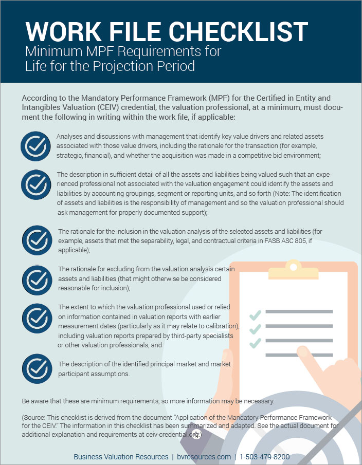 How To Document The Life For The Projection Period With Respect To