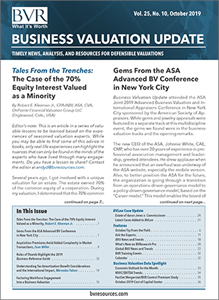 Business Valuation Update October 2019