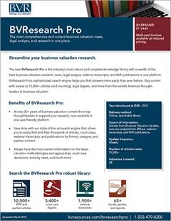 BVresearch Pro Spec Sheet