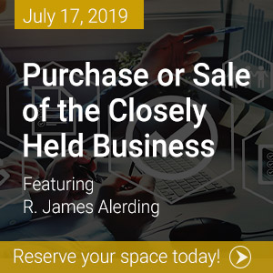Closely Held Business Webinar Banner Image