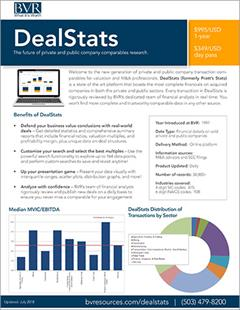 DealStats Spec Sheet