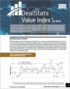 DealStats Value Index Cover Page