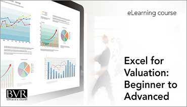 Excel for Valuation: Beginner to Advanced (eLearning Course)