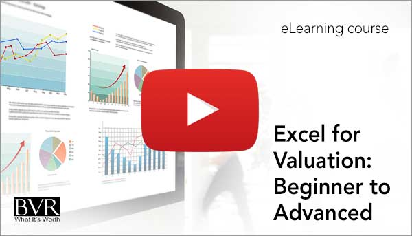 Excel for Valuation eLearning Demo Video