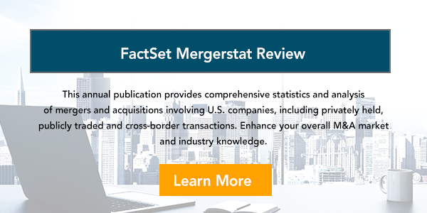 Factset Mergerstat Review Annual Report