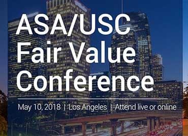 The 13th Annual ASA/USC Fair Value Conference