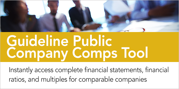 Guideline Public Company Comps Tool