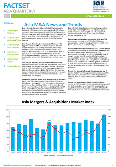 Mergerstat Asia Quarterly Review