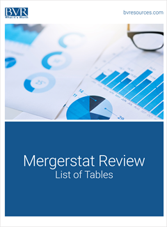 Mergerstat Review Table Mapping Cover