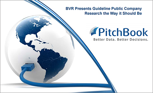 PitchBook/BVR Guideline Public Company Comps Tool Tutorial