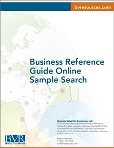 Business Reference Guide Online Sample Search