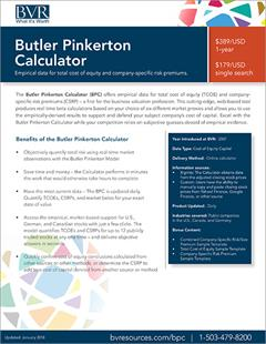 Butler Pinkerton Calculator Spec Sheet Image