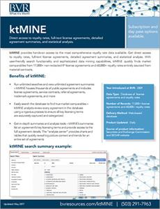 ktMINE Spec Sheet