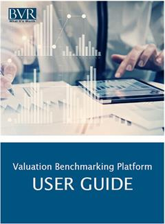 Valuation Benchmarking Platform User Manual Image