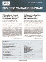 Business Valuation Update August 2020 Issue