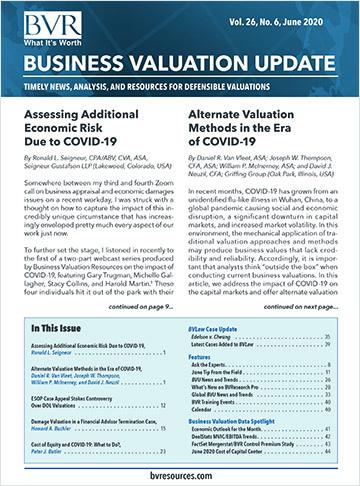 Business Valuation Update June 2020