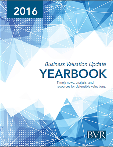 Business Valuation Update Yearbook 2016
