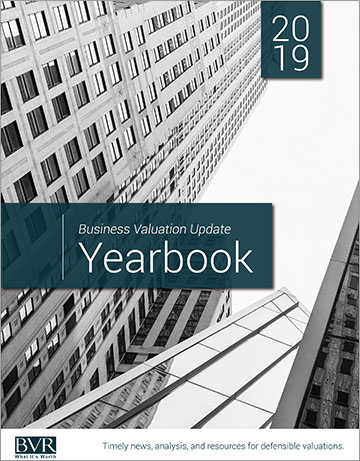 Business Valuation Update Yearbook 2019