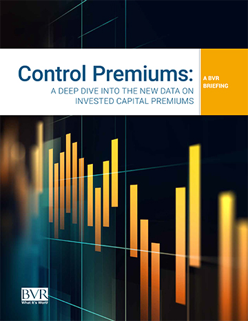 Control Premiums-A BVR Briefing