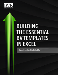 Building the Essential BV Templates in Excel