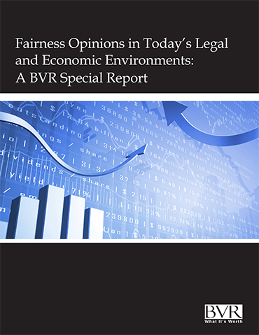 Fairness Opinions Special Report