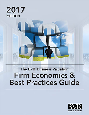 The BVR Business Valuation Firm Economics & Best Practices Guide