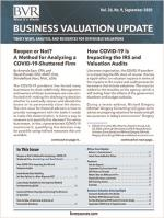 September 2020 Business Valuation Update