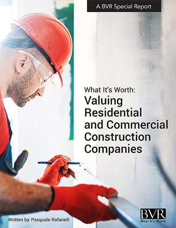 Valuing Construction Companies Special Report