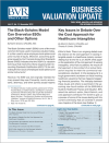 Business Valuation Update newsletter cover