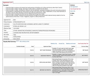 ktMINE database screenshot
