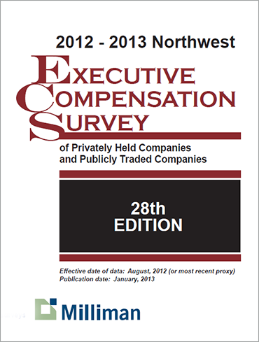 2012-2013 NW Milliman Survey Executive Compensation Survey of Privately Held Companies and Publicly Traded Companies
