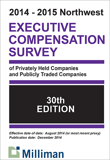 2014-2015 NW Milliman Survey Executive Compensation Survey of Privately Held Companies and Publicly Traded Companies
