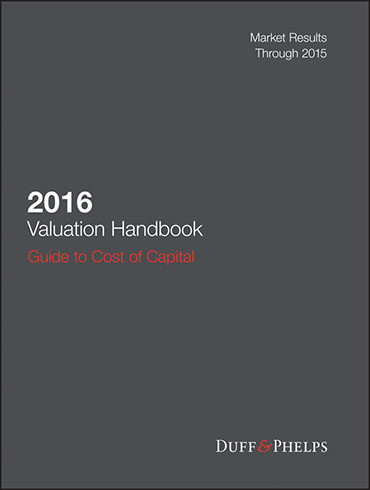 2016 Valuation Handbook - Guide to Cost of Capital