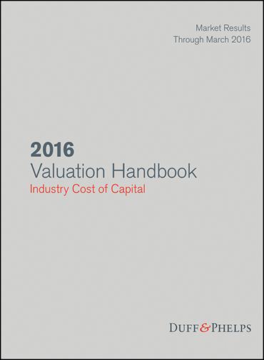2016 Valuation Handbook Industry Cost of Capital