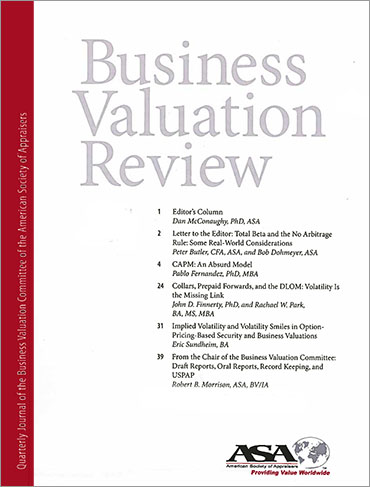 ASA Business Valuation Review