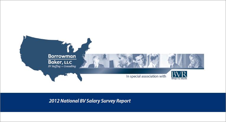 Borrowman Baker Business Valuation Salary Survey
