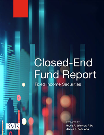Closed End Funds - Fixed Income Securities 2019