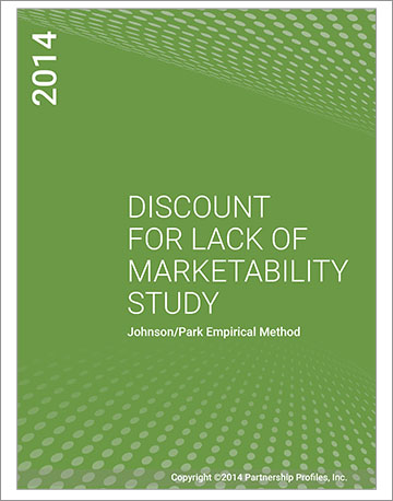 Discount for Lack of Marketability Study 2014
