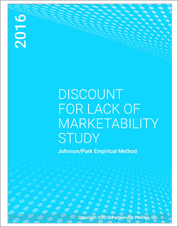 Discount for Lack of Marketability Study 2016