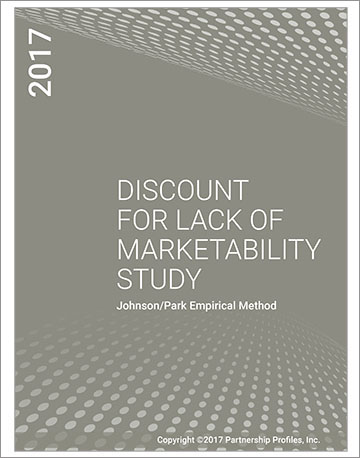 Discount for Lack of Marketability Study 2017