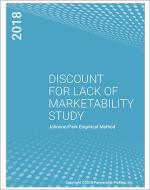 Discount for Lack of Marketability Report Cover 2018