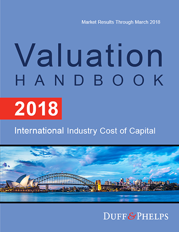 2018 Valuation Handbook - International Industry Cost of Capital