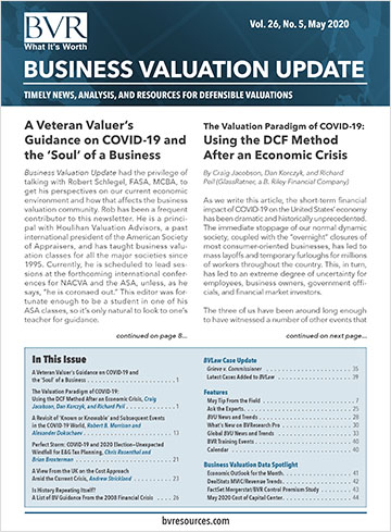 Business Valuation Update - Special Issue