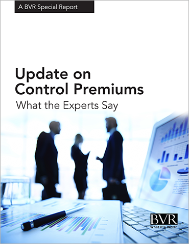 Update on Control Premiums: What the Experts Say