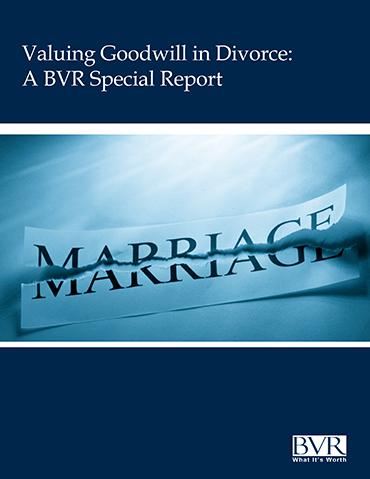 Valuing Goodwill in Divorce