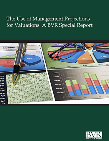 The Use of Management Projections for Valuations Special Report